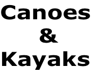 Canoes      & Kayaks